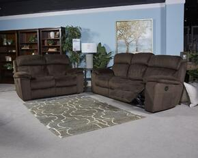 Uhland 6480315SL 2 PC Living Room Set with Power Reclining Sofa + Power Reclining Lovesear in Chocolate Color
