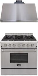 Professional Series 2-Piece Stainless Steel Kitchen Package with KRD366F 36