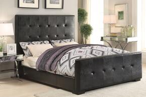 Lorelei 25230Q3PC Bedroom Set with Queen Size Bed + End Table + Sofa Table in Black Color