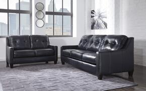 Regina Collection MI-5386SL-NAVY 2-Piece Living Room Set with Sofa and Loveseat in Navy