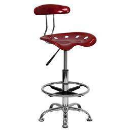 Flash Furniture LF215WINEREDGG