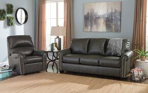 Lottie DuraBlend 380012536SET 2-Piece Living Room Set with Rocker Recliner and Full Sofa Sleeper in Slate