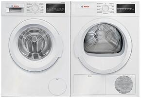 "White Front Load Laundry Pair with WAT28400UC 24"" Washer and WTG86400UC 24"" Electric Dryer"