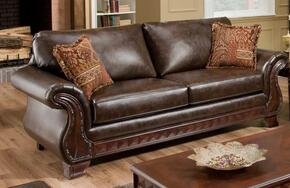 186900-WAL Jefferson 2 Piece Livingroom Set, Sofa + Loveseat in New Era Walnut