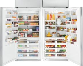 Panel Ready Refrigerator and Freezer Combination with 36