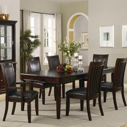 Ramona Collection 101631SETB 7 PC Dining Room Set with Table + 4 Side Chairs + 2 Arm Chairs in Rich Brown Finish