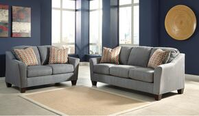 Hannin 95802QSSL 2-Piece Living Room Set with Queen Sofa Sleeper and Loveseat in Lagoon