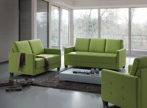 G771SET 3 PC Living Room Set with Sofa + Loveseat + Armchair in Lime Green Color