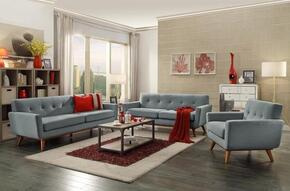 Mari Collection EM229WALLGRSET 3 PC Living Room Set with Sofa + Loveseat + Lounge Chair in Light Grey Color