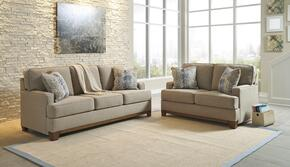 Hillsway 34104SL 2-Piece Living Room Set with Sofa and Loveseat in Pebble Color
