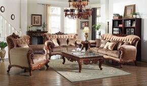 6 Piece Living Room Set with Sofa, Loveseat, Arm Chair, Coffee Table, End Table and Chaise in Rich Cherry