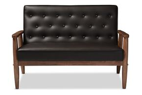 Wholesale Interiors BBT8013BROWNLOVESEAT