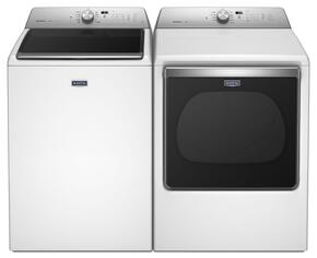 "Bravos White Top Load Laundry Pair with MVWB835DW 27"" Washer and MEDB835DW 29"" Electric Dryer"