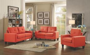 Newbury Collection G473ASET 3 PC Living Room Set with Modular Sofa + Loveseat + Armchair in Orange Color