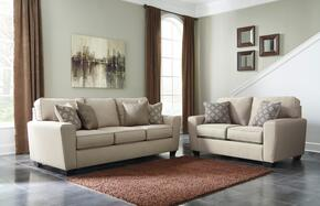 Calicho Collection 91203SL 2-Piece Living Room Set with Sofa and Loveseat  in Ecru Color