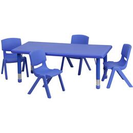 Flash Furniture YUYCX00132RECTTBLBLUERGG