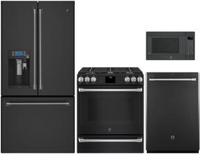 4-Piece Black Slate Kitchen Package with CFE28UELDS 36