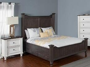 Carriage House Collection 2308ECKBBEDROOMSET 2-Piece Bedroom Set with King Bed and Nightstand in European Cottage Finish