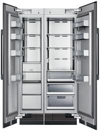 "42"" Panel Ready Side-by-Side Column Refrigerator Set with DRZ18980LAP 18"" Left Hinge Freezer and DRR24980RAP 24"" Right Hinge Refrigerator"