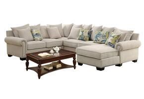 Skyler II Collection CM6156CT4390 Living Room Set with Ivory Sectional Sofa and Rectangular Coffee Table