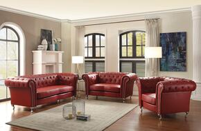 G759SET 3 PC Living Room Set with Sofa + Loveseat + Armchair in Red Color