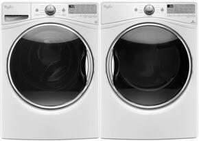 "White WFW9290FW 27"" Front Load Washer with WED92HEFW 27"" Electric Dryer"