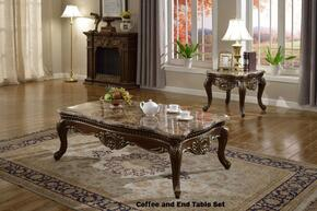 210CE 2 PC Living Room Table Sets with Coffee Table + End Table in Dark Cherry Finish