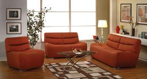 Kainda 51710SLC 3 PC Living Room Set with Sofa + Loveseat + Chair in Orange Color