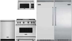 "4-Piece Stainless Steel Kitchen Package with VCRB5363RSS 36"" All Refrigerator, VGR73614GSS 36"" Gas Range, VMOR205SS 30"" Over the Range Microwave, and FDW302WS 24"" Fully Integrated Dishwasher"