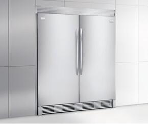 "64"" Built-In All Refrigerator and All Freezer Combo, with 18.6 cu. ft. Refrigerator and 18.6 cu. ft. Freezer, in Stainless Steel"