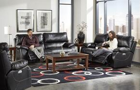 Sheridan Collection 764271-1152-08/1252-08SET 3 PC Living Room Set with Power Lay Flat Reclining Sofa + Loveseat + Recliner in Black Color