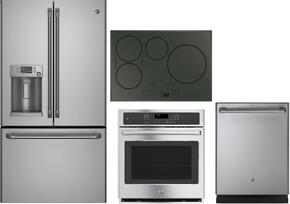 "4 Piece Stainless Steel Kitchen Package With CYE22TSHSS 36"" French Door Refrigerator, CHP9530SJSS 30"" Electric Cooktop, CK7000SHSS 27"" Electric Wall Oven and CDT835SSJSS 24"" Dishwasher For Free"