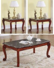 Bella Collection 2323PCRC2SEKIT1 3-Piece Living Room Table Sets with Coffee Table, and 2x End Table in Cherry