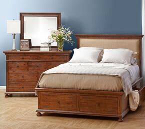 Geneva Hills Collection 680KPBDM 3-Piece Bedroom Set with King Bed, Dresser and Mirror in Rich Brown