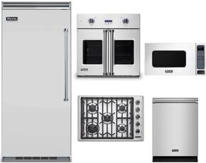 "5-Piece Stainless Steel Kitchen Package with VBI7360WRSS 36"" Bottom Freezer Refrigerator, VGSU5305BSSLP 30"" Gas Cooktop, VSOF730SS 30"" Single Wall Oven, VMOS201SS 24"" Microwave w. 30"" Trim Kit, and VDW302SS 24"" Dishwasher"