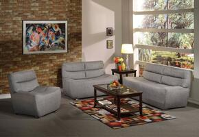 Kainda Collection 51720SLCT 6 PC Living Room Set with Sofa + Loveseat + Chair + 3 PC Table Set in Grey Color