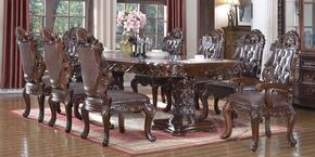 Barcelona 701T6SC2AC 9-Piece Dining Room Set with Dining Table, 6 Side Chairs and 2 Arm Chairs in Cherry Brown