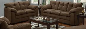 Luna 6565-0302 2 Piece Set including Sofa and Loveseat with  Tufted Back  in Chocolate