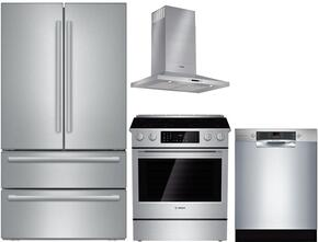 4-Piece Stainless Steel Kitchen Package with B21CL81SNS 36