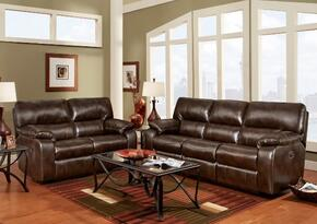 191303CCSL Rita Reclining Sofa + Loveseat with 16 Gauge Wire, Zippered Seat Cushions, Sinuous Springs, Solid Kiln Dried Hardwoods and Engineered Wood Products in Canyon Chocolate
