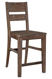 4990-591SET Attic Retreat Wood Seat Ladderback Counter Stools