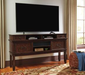 Woodboro Collection W478-68A31 2-Piece Set with TV Stand and W100-31 Small Integrated Audio Unit in Dark Brown