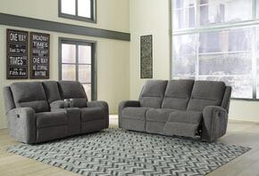 Krismen Collection 78102SL 2-Piece Living Room Set with Motion Sofa and Loveseat in Charcoal