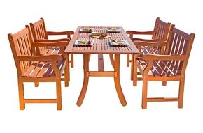 V187SET22 Outdoor Rectangular Curvy Dining Set 22
