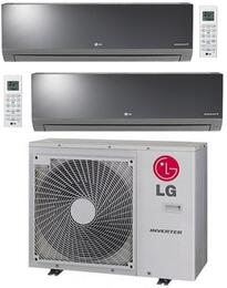 LMU30CHVPACKAGE6 Dual Zone Mini Split Air Conditioner System with 24000 BTU Cooling Capacity, 2 Indoor Units, and Outdoor Unit