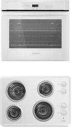 "2-Piece Kitchen Package with ACC6340KFW 30"" Electric Cooktop and AWO6313SFW 30"" Electric Single Wall Oven in White"