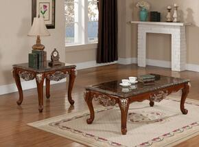Biarritz 211CE 2 PC Living Room Table Set with Coffee Table + End Table in Brown Finish