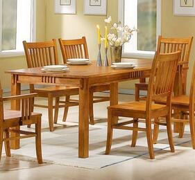 100621SET5 Marbrisa 5 Pcs Mission Dining Set (Table and 4 Chairs) by Coaster Co.