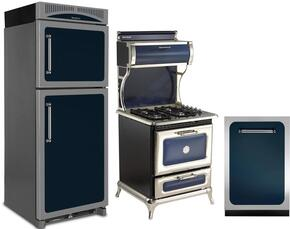 3-Piece Cobalt Blue Kitchen Package with HCTMR20RCBL 30