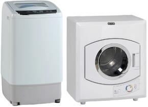 "White Top Load Laundry Pair with TLW09W 17"" Portable Washer and D1101IS 24"" Electric Dryer"